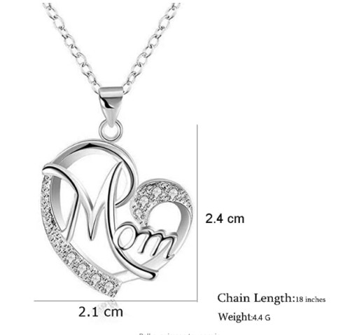 Mother's Day Necklace Fashion Mom Letter Love Necklace Charms Pendant Necklace The Best Gift For Mother