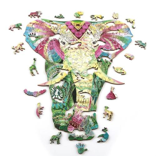 COLOURED ELEPHANT PUZZLE