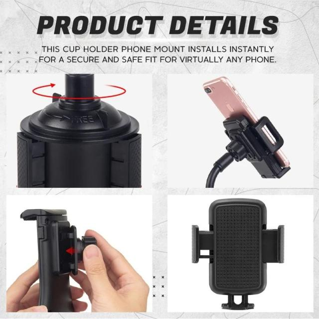 [Promotion 50% Off]Universal Adjustable Cup Holder Phone Mount