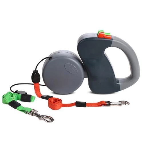 Dual Dog Anti-Tangling Retractable Leash