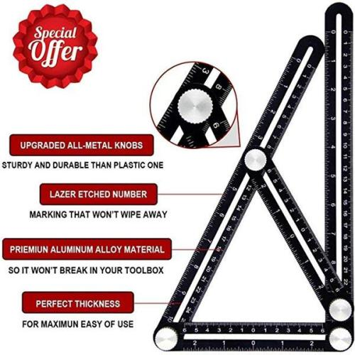 Universal Angle Layout Measuring Ruler