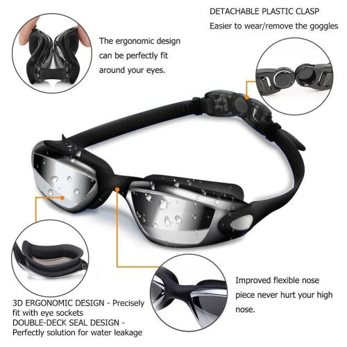 Elite Professional HD Anti-Fog Swim Goggles