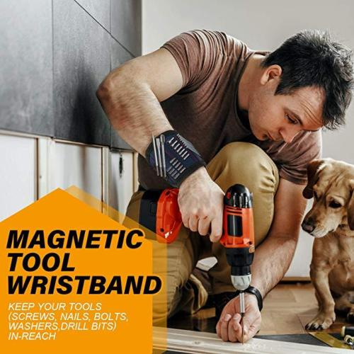 [Best Seller]Magnetic Tools Wristband with Strong Magnets