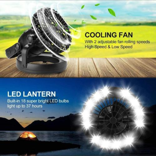 [Promotion hot sale]Portable LED Camping Lantern with Ceiling Fan