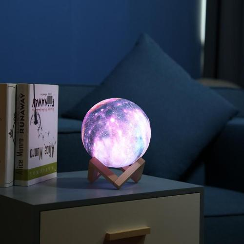 16 Colors 3D Print Star Moon Lamp
