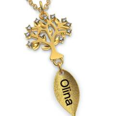 Personalized Family Tree Necklace with initial for mam