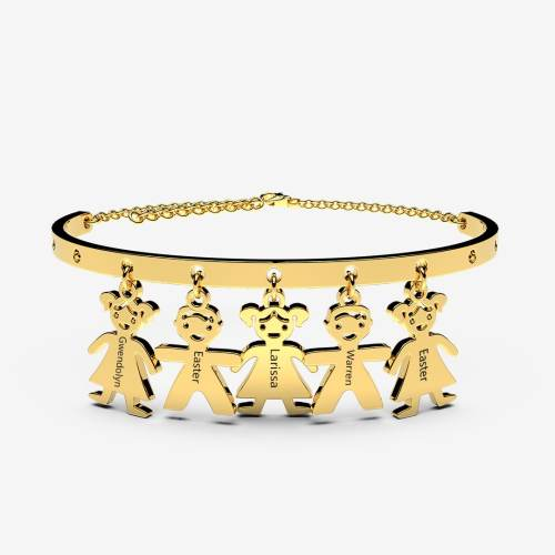 Morden Mothers Bracelets With Kids charm