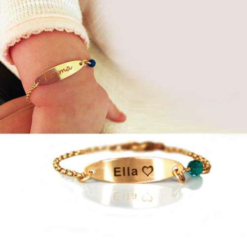 Baby name and birthstone Bracelet