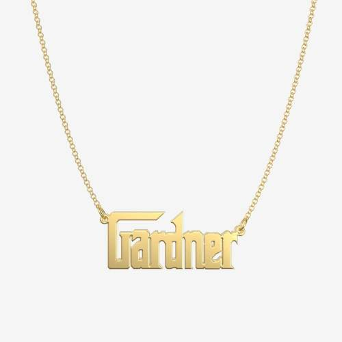 Handmade Personalized Godfather Style Name Necklace