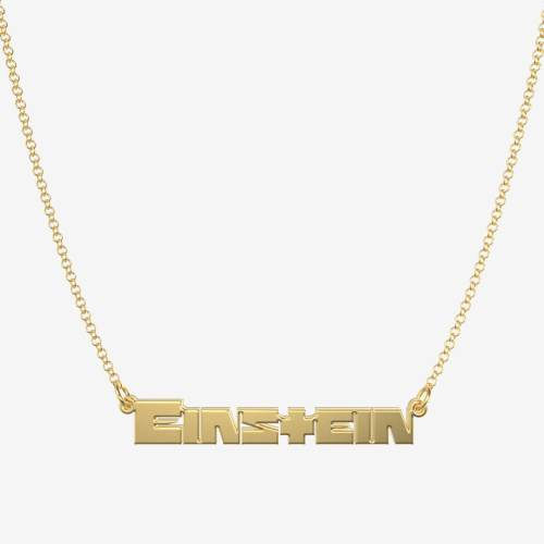 Handmade Personalized Rammstein Style Name Necklace
