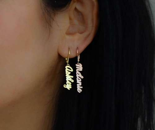 Name Plate Earrings
