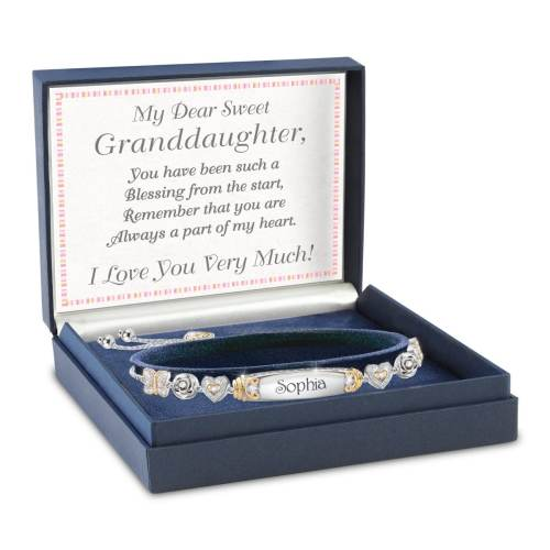 Granddaughter Bracelet With Two Personalised Engravings
