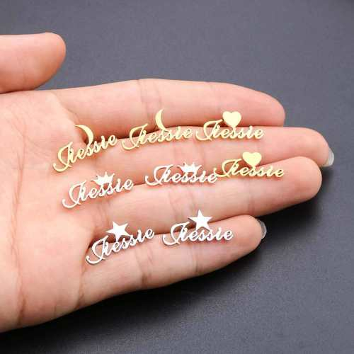 So cute name earrings