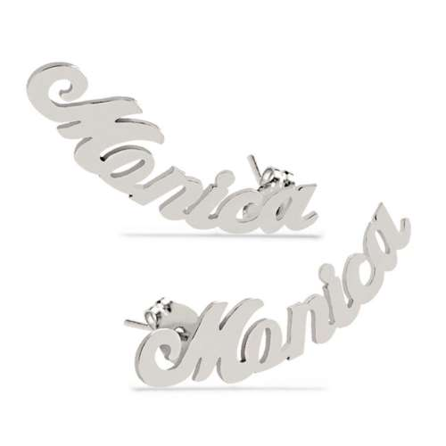 Script Name Earrings
