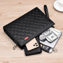 WEIXIER's new men's pure color business bag business coattail wallet man bag envelope clutch bag man