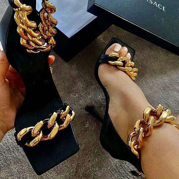 Sheilawears Trendy Punk High Heel Sandals