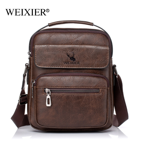 New single-shoulder cross-body bag for men casual waterproof PU vertical handbag travel business cross-body bag for men